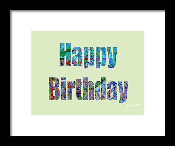 Framed Print featuring the digital art Happy Birthday 1001 by Corinne Carroll