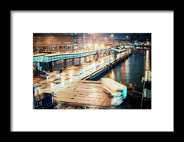 Industrial District Framed Print featuring the photograph Harbor Area by Peeterv