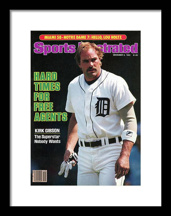 Magazine Cover Framed Print featuring the photograph Hard Times For Free Agents Kirk Gibson, The Superstar Sports Illustrated Cover by Sports Illustrated