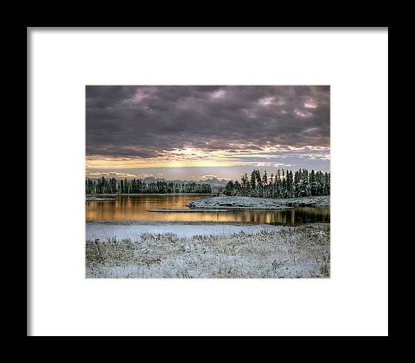 Idaho Scenics Framed Print featuring the photograph Harriman Winter by Leland D Howard