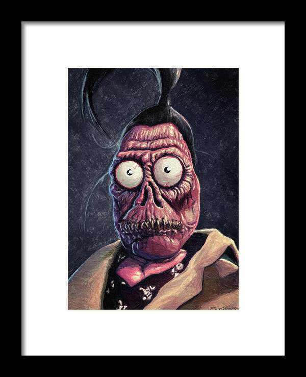 Harry The Hunter Framed Print featuring the painting Harry The Hunter by Zapista Zapista