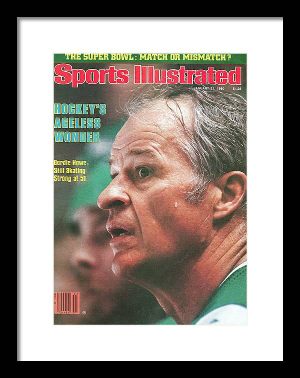 Magazine Cover Framed Print featuring the photograph Hartford Whalers Gordie Howe Sports Illustrated Cover by Sports Illustrated