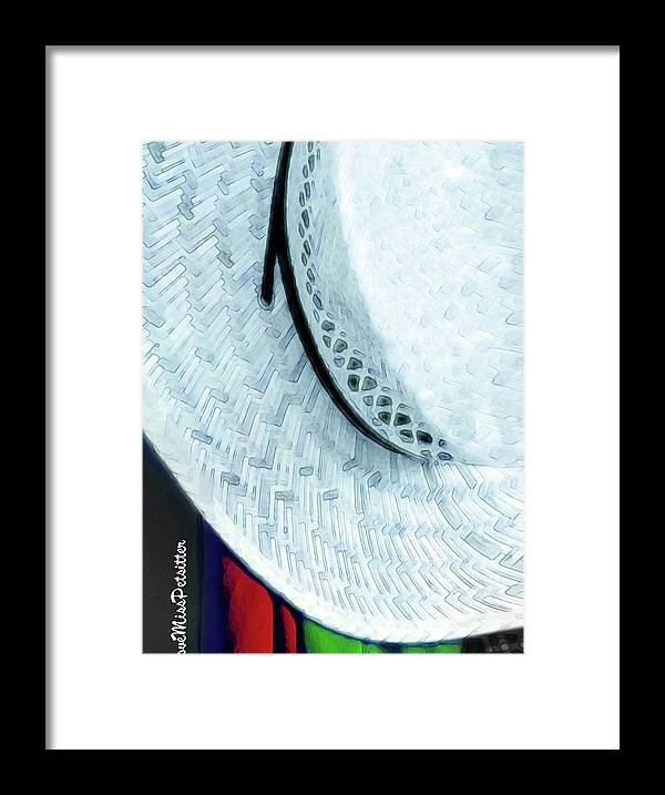 Art Framed Print featuring the digital art Hat Painting by Miss Pet Sitter