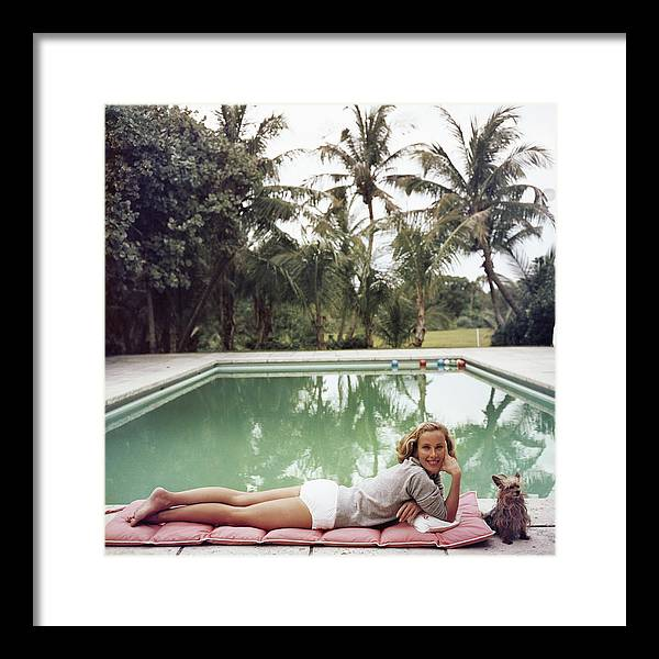 Pets Framed Print featuring the photograph Having A Topping Time by Slim Aarons