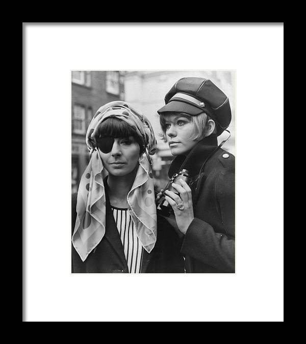 Fashion Model Framed Print featuring the photograph Heads Together by Keystone