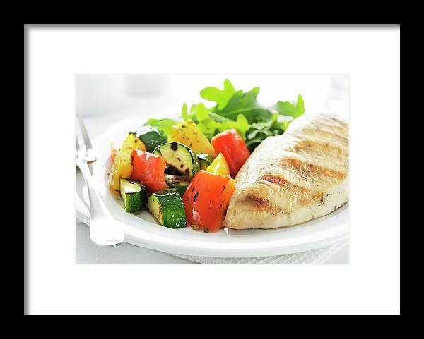 Chicken Meat Framed Print featuring the photograph Healthy Meal by Easybuy4u