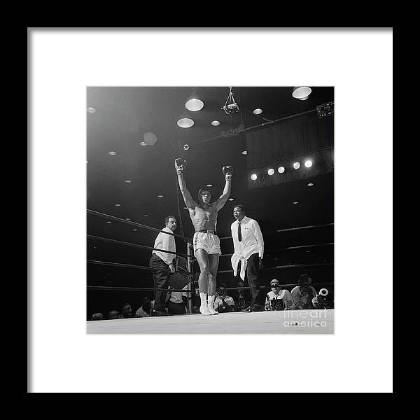 Human Arm Framed Print featuring the photograph Heavyweight Champion Muhammad Ali by Bettmann