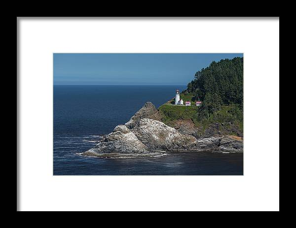Scenics Framed Print featuring the photograph Heceta Head Lighthouse, Oregon Coast by Jeff Hunter