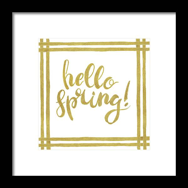 Hello Framed Print featuring the mixed media Hello Spring by Patricia Pinto