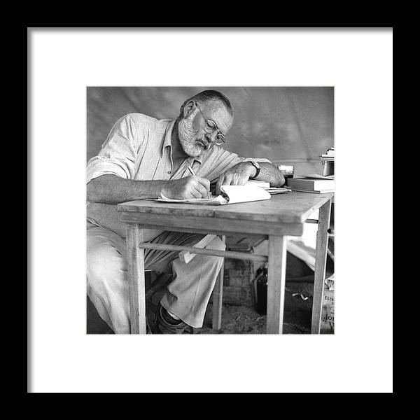 Working Framed Print featuring the photograph Hemingway On Safari by Earl Theisen Collection
