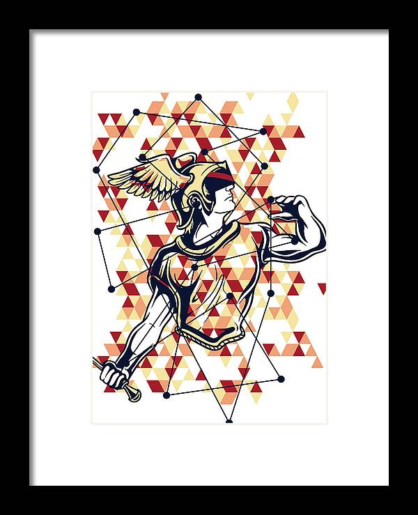 Greek-mythology Framed Print featuring the digital art Hermes Greek God by Passion Loft