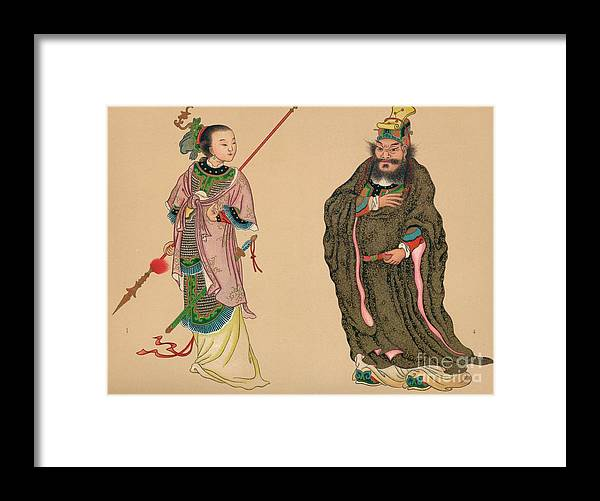 People Framed Print featuring the drawing Heroes And Heroines Of Chinese History by Print Collector