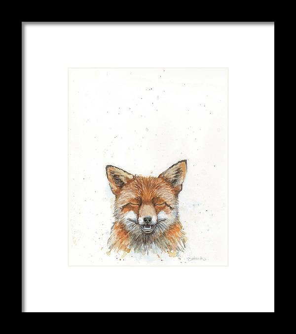Fox Framed Print featuring the painting Hey Foxy by Tahirih Goffic