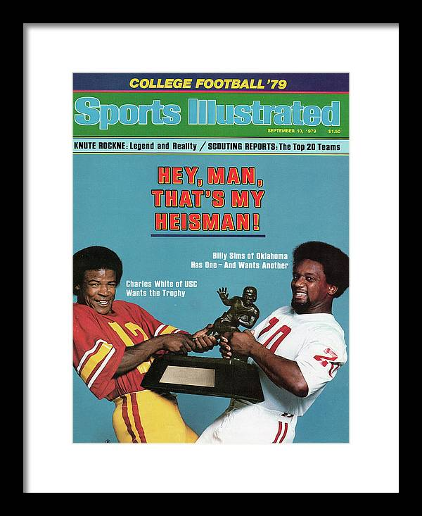 Season Framed Print featuring the photograph Hey, Man, Thats My Heisman 1979 College Football Preview Sports Illustrated Cover by Sports Illustrated