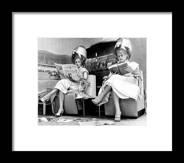 1950-1959 Framed Print featuring the photograph Hialeah Beauty Parlor Customers Scorn by New York Daily News Archive