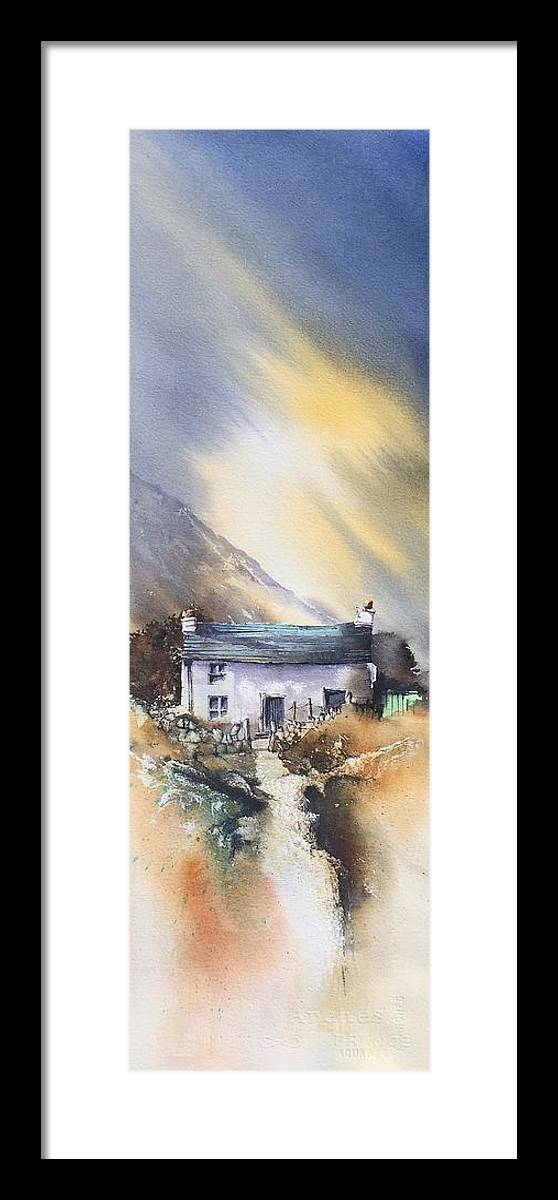 Ireland Framed Print featuring the painting Hidden House by Roland Byrne