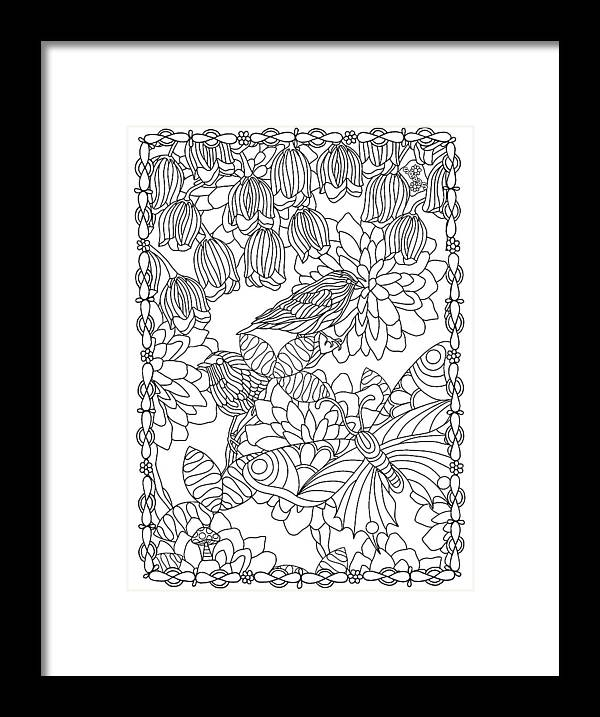 Coloring Books Framed Print featuring the drawing Hidden Images Book A - 42 by Kathy G. Ahrens