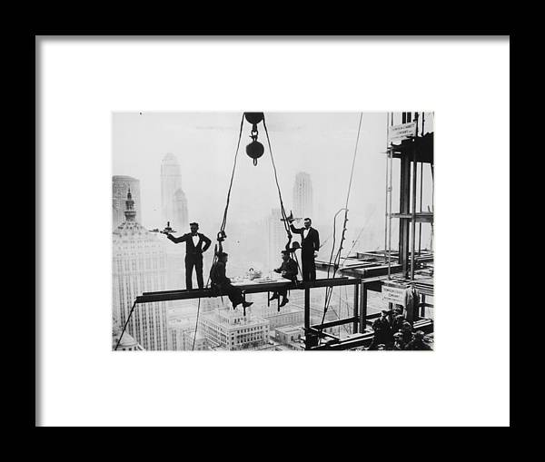 Hanging Framed Print featuring the photograph High Lunch by Keystone