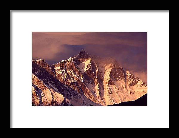 Scenics Framed Print featuring the photograph Himalayas At Sunset by Pal Teravagimov Photography