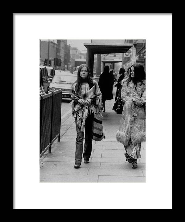 People Framed Print featuring the photograph Hippy Fashion by Evening Standard