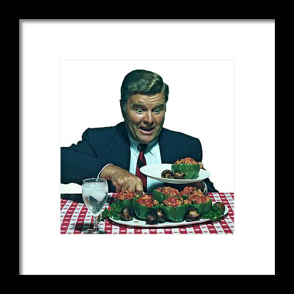 Stuffed Framed Print featuring the photograph His Favorite Meal by Tom Kelley Archive