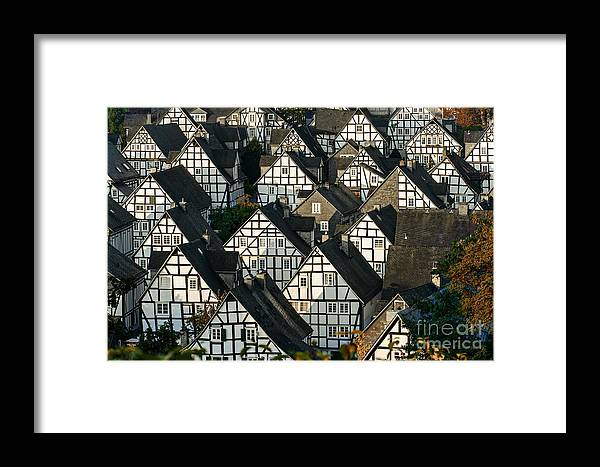 Small Framed Print featuring the photograph Historic German Fachwerkhaus Buildings by Er 09