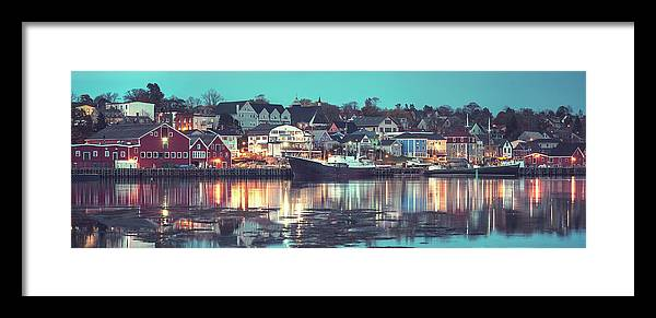 Water's Edge Framed Print featuring the photograph Historic Lunenburg by Shaunl