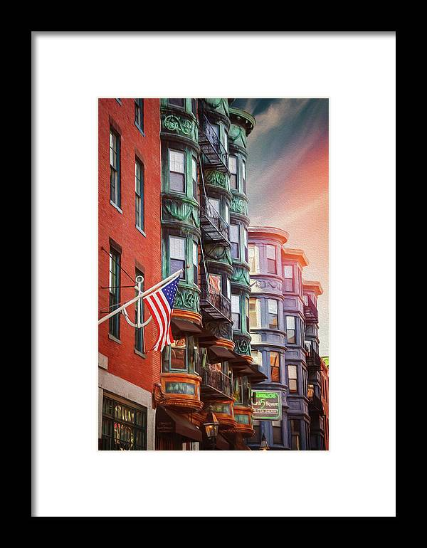 Boston Framed Print featuring the photograph Historic North End Boston Massachusetts by Carol Japp