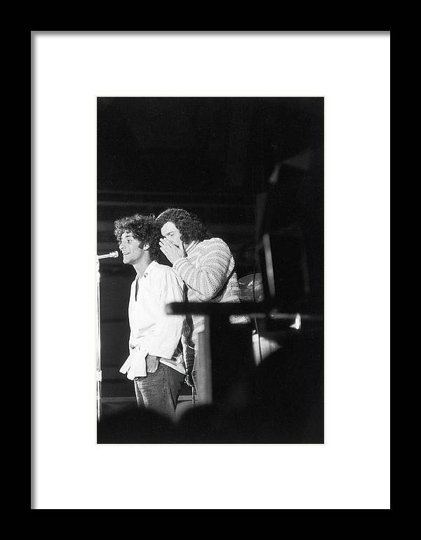 Sweater Framed Print featuring the photograph Hoffman & Sanders At 1968 Dnc Protest by Fred W. McDarrah