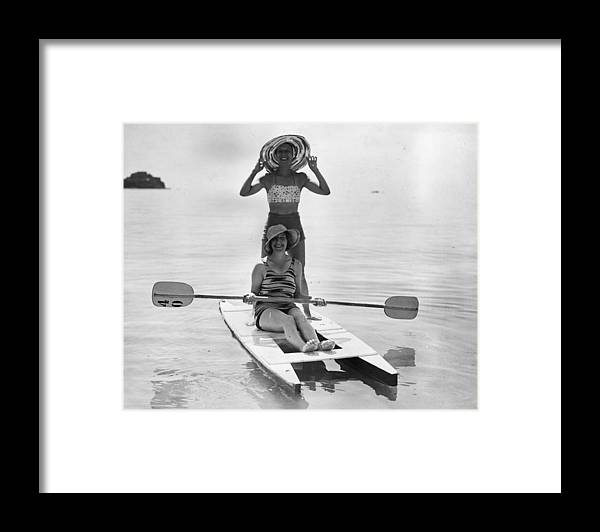 Recreational Pursuit Framed Print featuring the photograph Holiday Canoers by E. Phillips