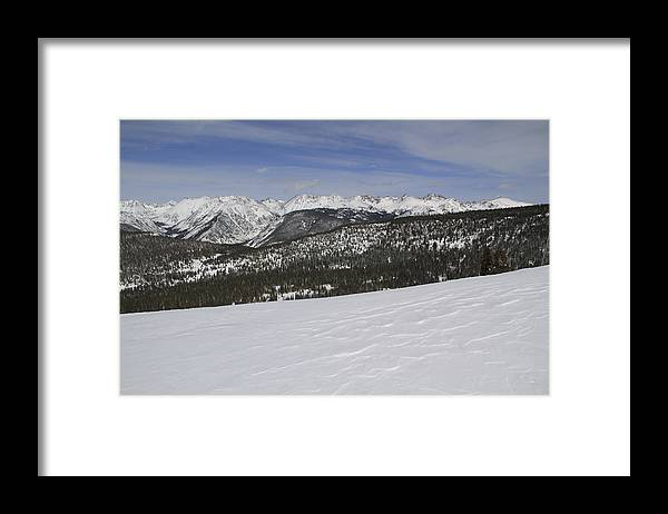 Scenics Framed Print featuring the photograph Holy Cross Wilderness Area In Winter by John Kieffer