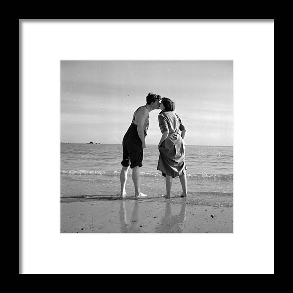 1950-1959 Framed Print featuring the photograph Honeymoon Kiss by Haywood Magee