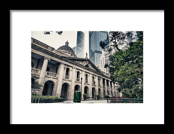 Chinese Culture Framed Print featuring the photograph Hong Kong Legislative Council by Laoshi