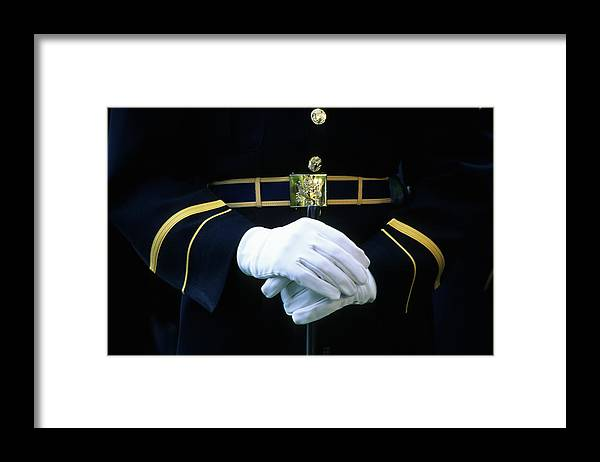Rifle Framed Print featuring the photograph Honor Guard Holding Rifle, Arlington by Hisham Ibrahim