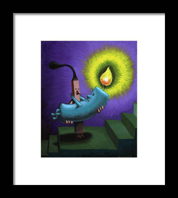 Candle Framed Print featuring the painting Hope by Sam Hurt