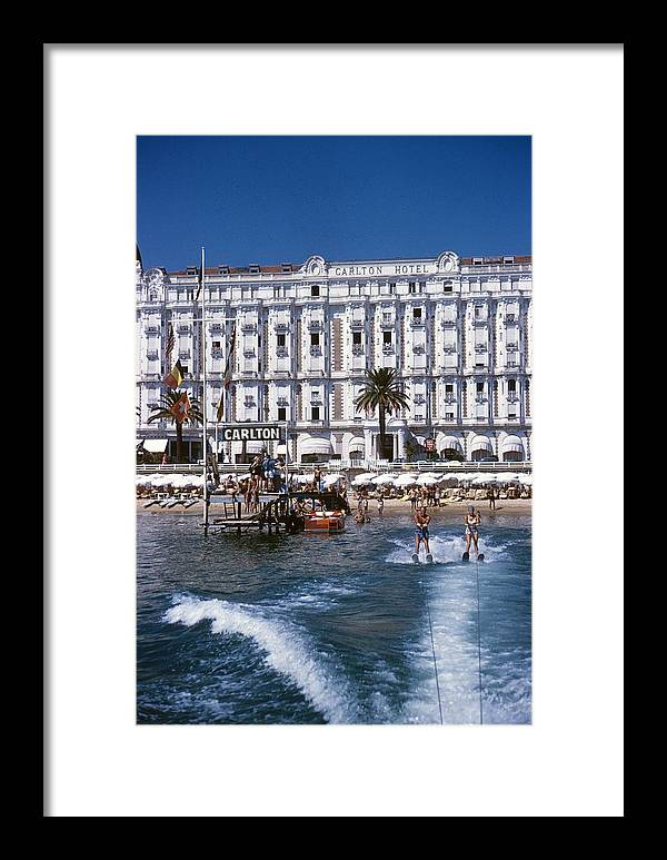 Skiing Framed Print featuring the photograph Hotel Sports by Slim Aarons
