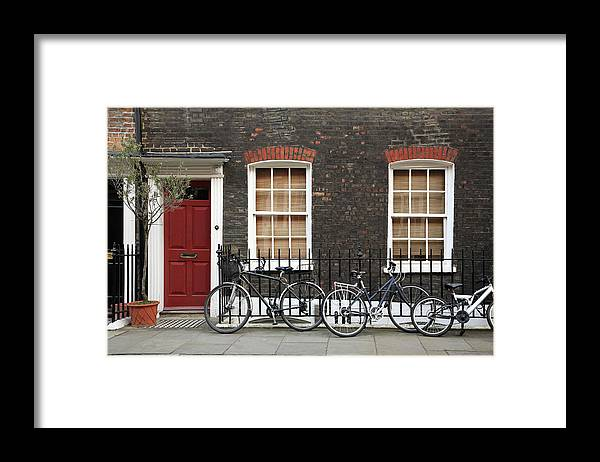 Row House Framed Print featuring the photograph House In London by Imagestock