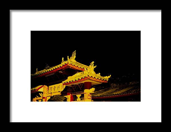 Ancient Framed Print featuring the photograph House Of Clan In Hoi An, Vietnam - by Veronique Durruty