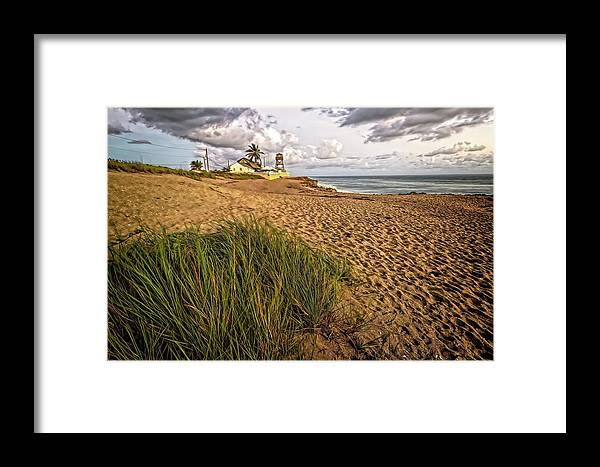Beach Framed Print featuring the photograph House Of Refuge Beach 10 by Steve DaPonte