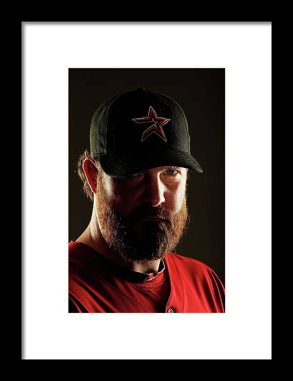 American League Baseball Framed Print featuring the photograph Houston Astros Photo Day by Al Bello