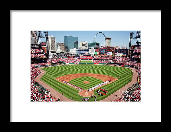 Opening Framed Print featuring the photograph Houston Astros V St. Louis Cardinals by Dilip Vishwanat