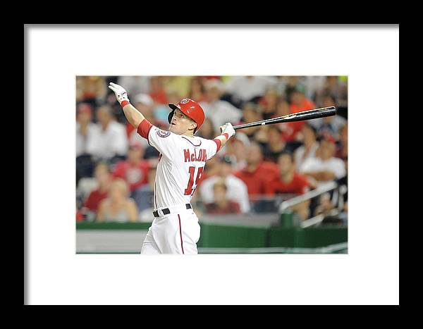American League Baseball Framed Print featuring the photograph Houston Astros V Washington Nationals by Mitchell Layton