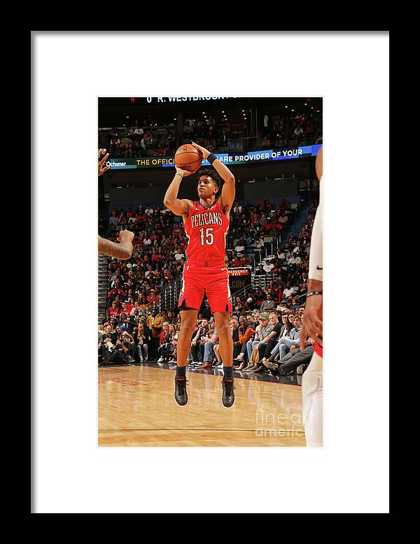 Smoothie King Center Framed Print featuring the photograph Houston Rockets V New Orleans Pelicans by Layne Murdoch Jr.