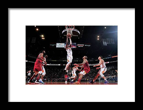 Nba Pro Basketball Framed Print featuring the photograph Houston Rockets V Phoenix Suns by Barry Gossage