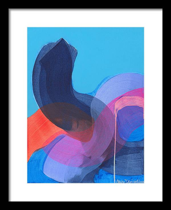 Abstract Framed Print featuring the painting How Did It Get To Be So Late? by Claire Desjardins