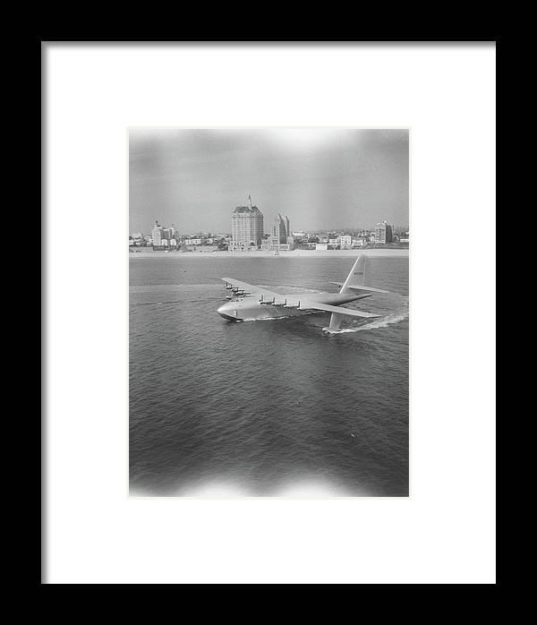 Howard Hughes Framed Print featuring the photograph Howard Hughes H-4 Hercules Troop by J. R. Eyerman