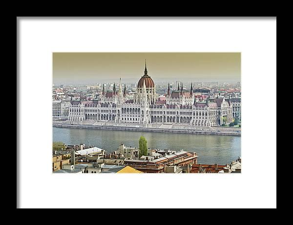 Hungarian Parliament Building Framed Print featuring the photograph Hungarian Parliament Building by (c) Thanachai Wachiraworakam