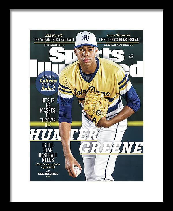 Magazine Cover Framed Print featuring the photograph Hunter Greene Is The Star Baseball Needs Sports Illustrated Cover by Sports Illustrated