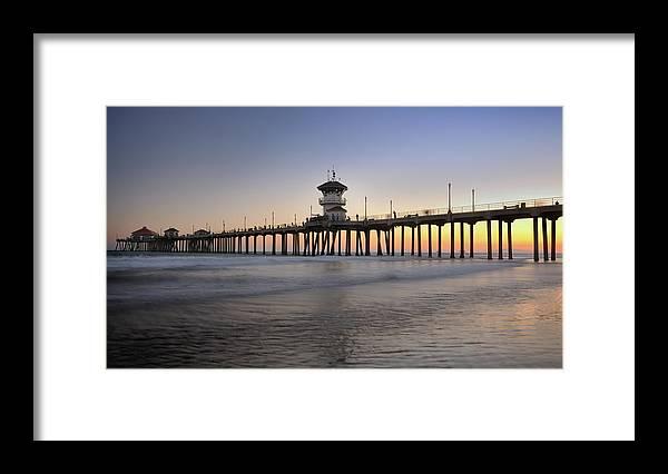 Scenics Framed Print featuring the photograph Huntington Beach Pier, California Xxxl by 4fr