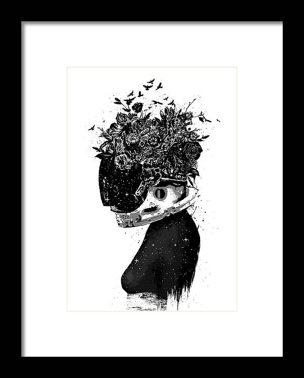 Girl Framed Print featuring the mixed media Hybrid girl by Balazs Solti